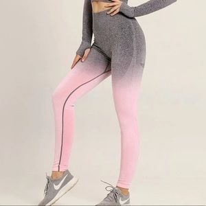Astoria Seamless Ombré Legging - Grey/Pink